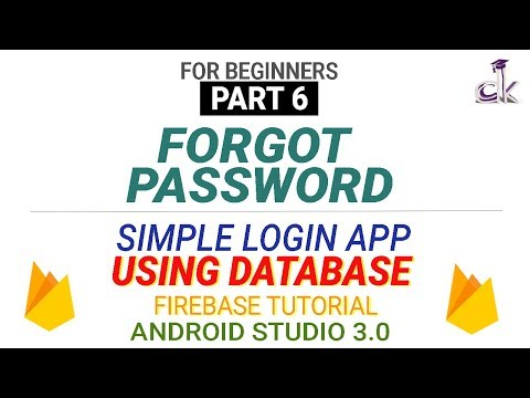 Simple Login App Using Database (PART 6) - Forgot Password! (Android Studio 3.0)