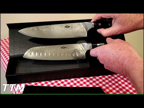 Kitchen Emperor Damascus Steel Santoku Knife Review