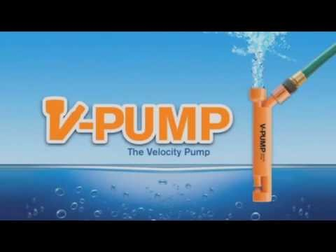 V-Pump - High velocity water pump. No Electricity - Direct Pool Supplies