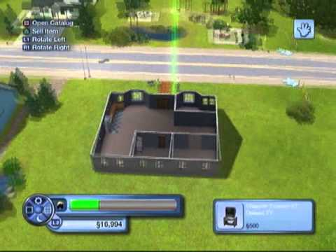 How to get an empty lot in Sims 3 & building a basic house on it [part 1]