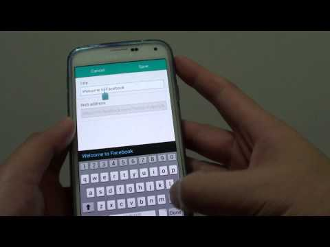 Samsung Galaxy S5: How to Add Website Link to Internet Browser Quick Access