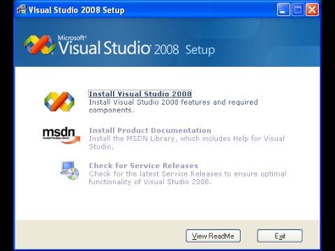 Tutorial install Visual Studio 2005 | installer