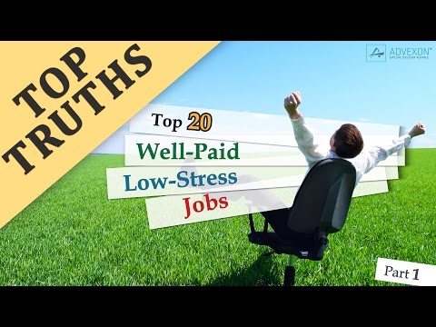 Top 20 Well Paid Low Stress Jobs (Part 1)