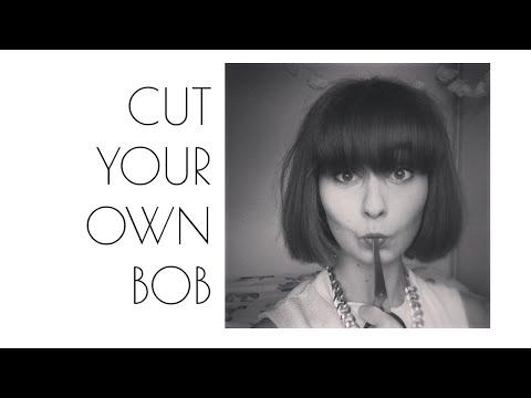 How To: Bob Haircut at Home   DIY Short Hair