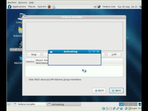 Fedora 10 Beta Live CD Installer