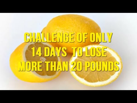 Challenge of only 14 days to lose more than 20 pounds