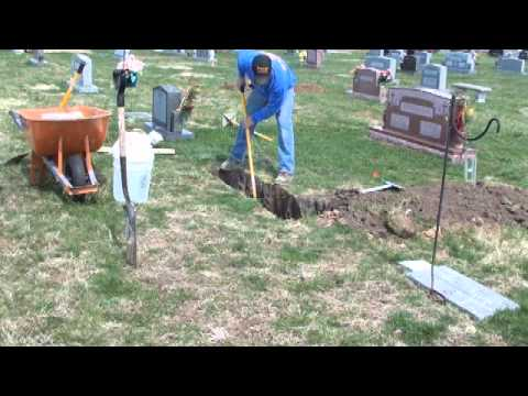 How to Install a monument in a cemetery t.flv