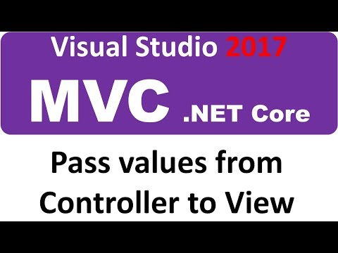 Visual Studio 2017 MVC ASP.NET CORE - Pass values from Controller to View