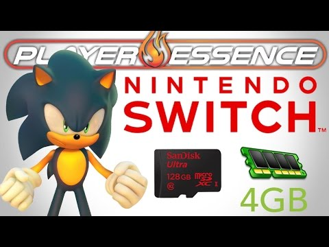 NINTENDO SWITCH - Project Sonic 2017, 128GB SD Support,16GB Standard Carts & 4GB of System RAM!