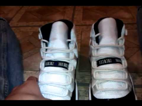 Air jordan 11 Concord update after wearing/ on feet response to dj delz