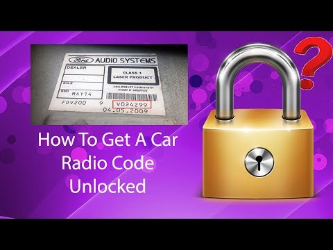 How To Get A Car Radio Code Unlock Fast Using Serial No.