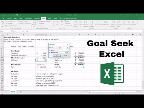 Goal Seek Excel: How to Solve For Target Inputs