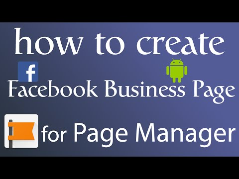 How to Create Facebook Business Page | Use Page Manager on Android - 2016