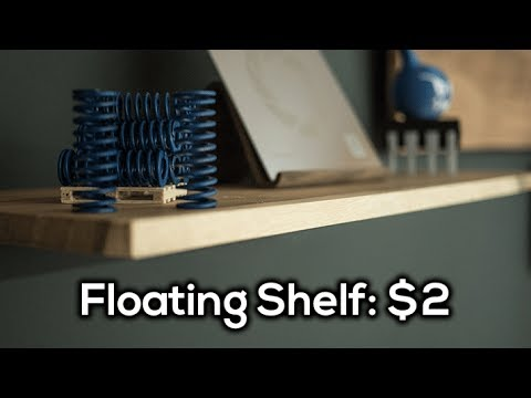 A Simple, DIY $2 Floating Shelf