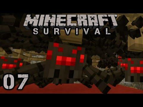 Minecraft Survival # 7 - Spider XP Farm !
