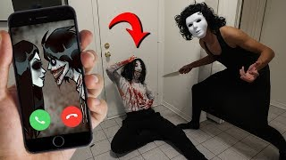 CALLING JANE AND JEFF THE KILLER ON FACETIME AT SAME TIME AT 3 AM!! (YOU WON