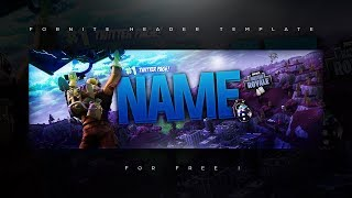 Fortnite Hq Twitter Header Template Psd Tutorial Free