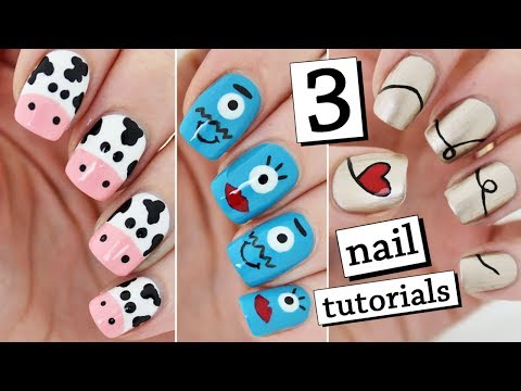 3 EASY NAIL ART TUTORIALS | Recreating My Old Nail Art!