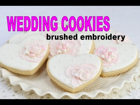 WEDDING COOKIES, BRUSHED EMBROIDERY, HANIELA'S
