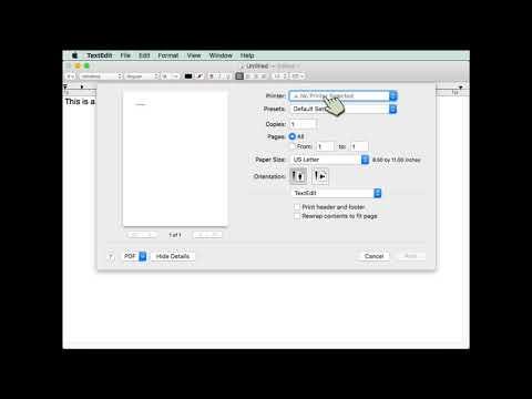 Setup Printer macOS