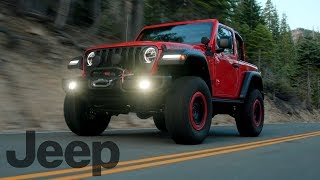 2018 Jeep Wrangler Rubicon at Lake Tahoe | Driving, Interior