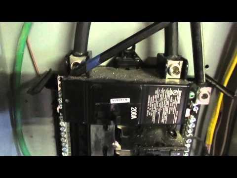 d.i.y. 200 amp breaker box installation