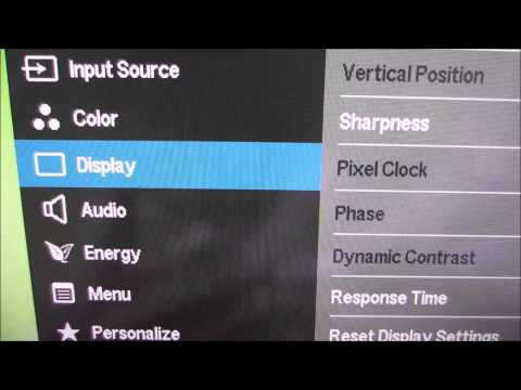 Dell S2415H Menu System (OSD)