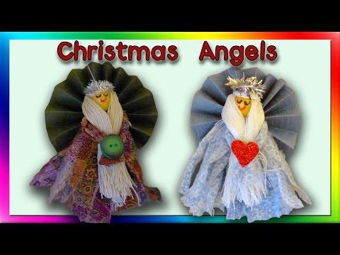 DIY Christmas Angel Ornaments