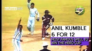 Anil Kumble 6-12 destroys WI at Eden Gardens!! (HQ) video