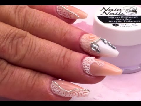 Extreme 3d Butterfly And Flower Acrylic Nail Art Tutorial