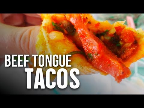 Trying BEEF TONGUE & EYE Tacos in Mexico!