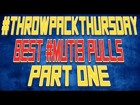 #THROWPACKTHURSDAY | Best Pulls On Madden 13 Ultimate Team Part 1 | Amazing Luck #MUT13
