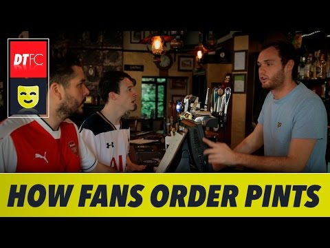How Premier League clubs order a pint in 90 seconds   Ft. Man United, Man City and Arsenal