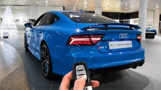 Audi RS7 Performance Blue Audi Exclusive: In Depth, Interior, Details and more