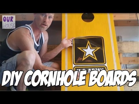 How to Make Cornhole Boards - OurHouse DIY