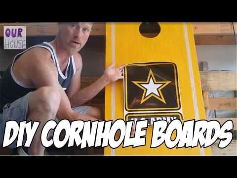 How to Make Cornhole Boards - OurHouse DIY