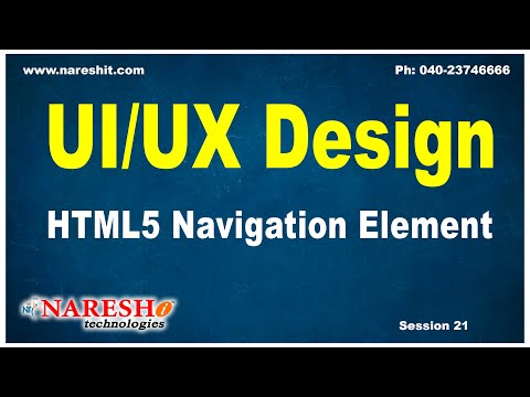 Session:21 | HTML5 Navigation Element | UI/UX Tutorial | by Mr. Naveen Saggam