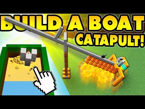 Build a boat CATAPULT! (I flew to the BEACH!!)