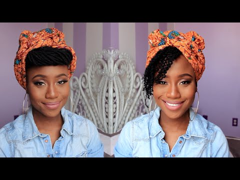 Spring Headwrap Style for Locs/Natural Hair | JASMINE ROSE 4c hair how to