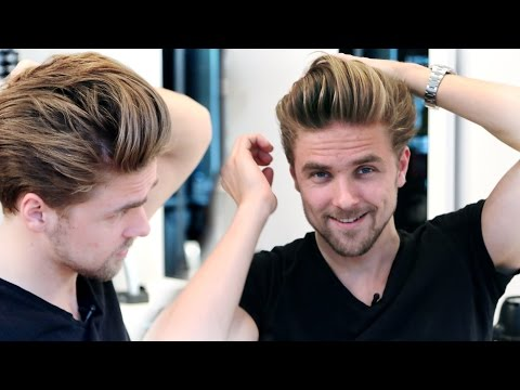 Men's medium hair lenght with high volume blow out | GIVEAWAY | Men's hairstyling inspiration 2015