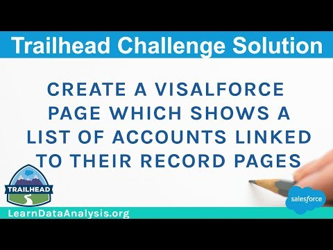 Create a Visualforce page which shows a list of Accounts linked to their record pages | Salesforce
