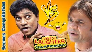 Johnny Lever Comedy Scenes  VS  Rajpal Yadav Comedy Scenes {HD} - 2 - Comedy Laughter Championship