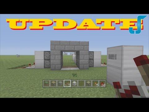 Minecraft Xbox: 2x2 Secret Piston Door w/ Buttons! [TUTORIAL]