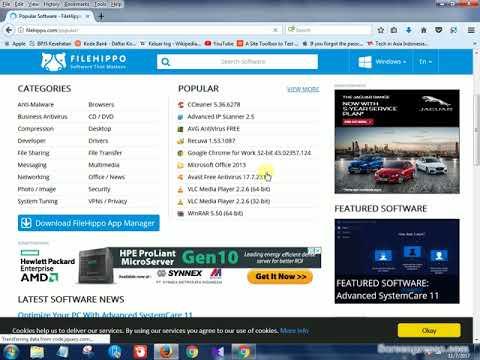 Cara Download Aplikasi Komputer PC Gratis Di FileHippo
