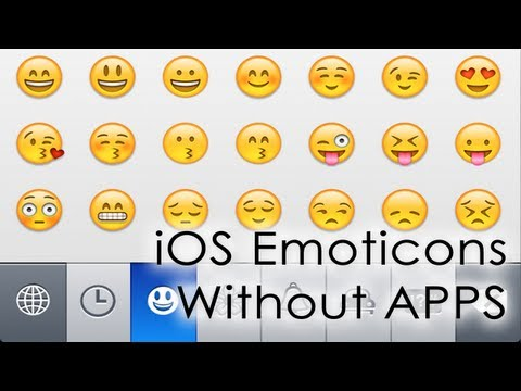 Installing iPhone Emoticons (emoji) without Apps