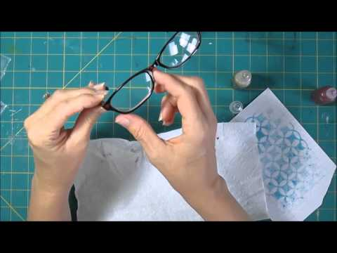 Decorating Reading Glasses with Stickles