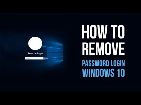 Windows 10 - How to remove login password at startup
