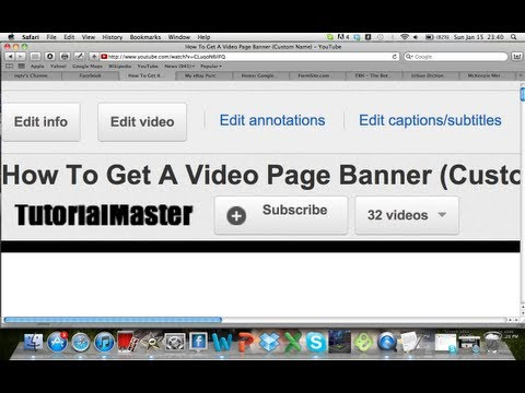 How to Get a Custom Subscribe Button by Your Videos!