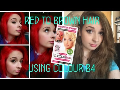 Red to Brown Hair using Colour B4