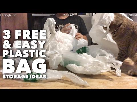 Kitchen Hacks: 3 Free & Easy DIY Plastic Bag Storage Ideas